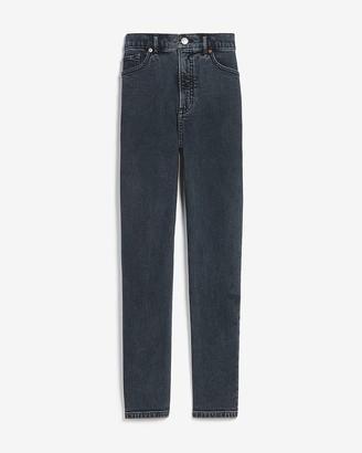 Express Super High Waisted Dark Wash Mom Jeans