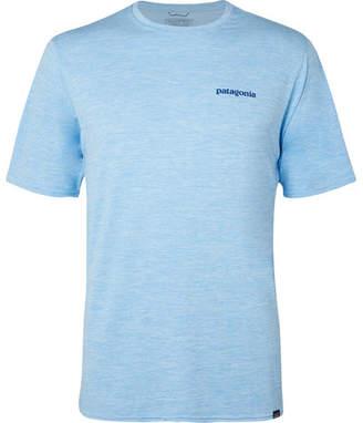Patagonia Logo-Print Melange Capilene Jersey T-Shirt