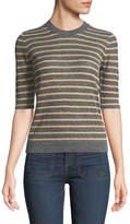 Veronica Beard Dean Crewneck Striped Sweater