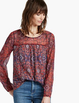 Lucky Brand Chiffon Geo Sleeve Top