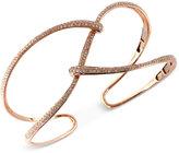 Effy Pavé Rose by Diamond Bangle Bracelet (1 ct. t.w.) in 14K Rose Gold