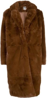 Apparis Laure oversized faux-fur coat