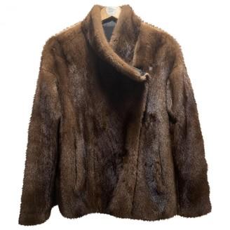 Yves Salomon Brown Mink Coat for Women