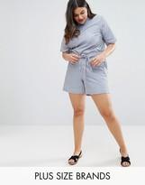 Junarose Striped Woven Shorts