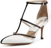 Michael Kors Sahar Pointed-Toe T-Strap Sandal