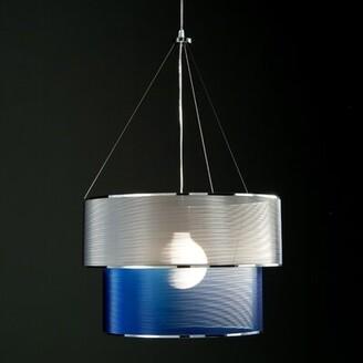 "&'Costa Eclissi 1-Light Single Tiered Pendant Size/Bottom Finish: 15.74"" / InoxTop-BottomInox"