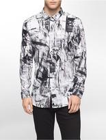 Calvin Klein One Slim Fit Shatter Print Shirt