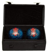Oriental Furniture Good Unique Fun Birthday Gift Idea, 1.5-Inch Chinese Cloisonne Health Balls with Shou Symbol