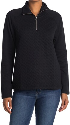 Jag Jeans Theresa Quarter Zip Quilted Pullover