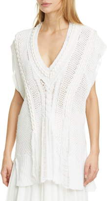 Rag & Bone Celina Distressed Cable Knit Vest