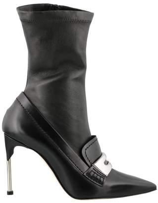 Alexander McQueen Metal Bar Moccasin Boot