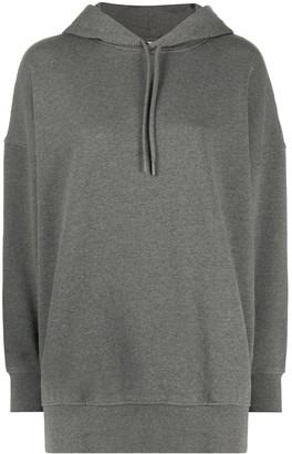 Courreges Oversize Embroidered Logo Hoodie