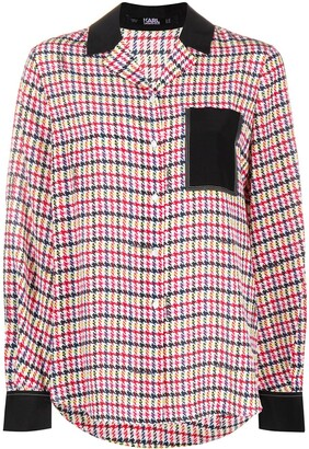 Karl Lagerfeld Paris Check Print Shirt