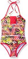 LiMiTeD Too Big Girls' Tropical Aztec Stripe 1pc Swim