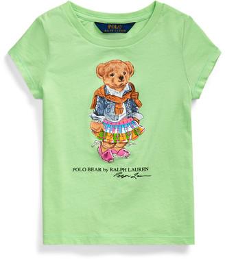 Ralph Lauren Madras Bear Cotton Jersey Tee