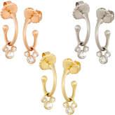 Disney Diamond Hoop Slider Mickey Mouse Earrings - 18K