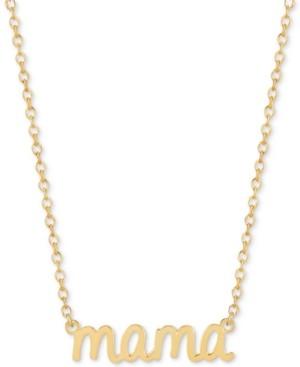 Sarah Chloe Mama Adjustable Pendant Necklace in 14k Gold-Plated Sterling Silver