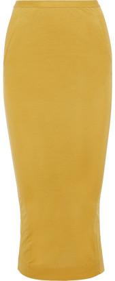Rick Owens Lilies Split-back Jersey Midi Skirt