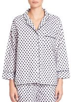 Sleepy Jones Printed Marina Cotton Pajama Shirt