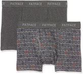 Fat Face Men's 2Pk Camper Print Boxer Shorts,(Manufacturer Size: S)