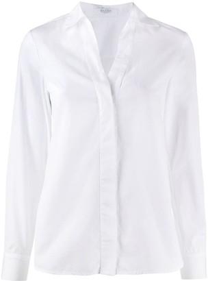 Barba Open-Collar Long Sleeved Shirt