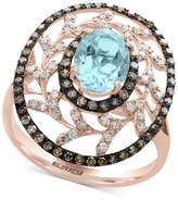 Effy Final Call by EFFYandreg; Aquamarine (1-1/5 ct. t.w.) and Diamond (1/2 ct. t.w.) Statement Ring in 14k Rose Gold