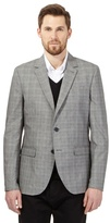 J By Jasper Conran Grey Textured Pow Check Jacket