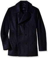 Nautica Men's Big & Tall Wool-Blend Peacoat