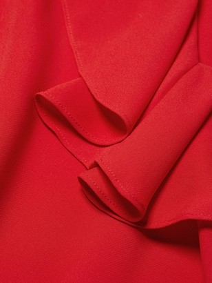 Lafayette 148 New York, Plus Size Sana Silk Ruffle Neck Blouse