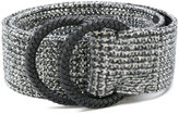 Ermanno Scervino woven effect belt - women - Leather/Wool/glass - 70
