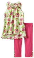 Little Lass Girls 2-6X 2Piece Floral Skimmer Set