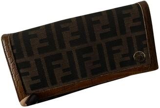 Fendi Brown Cloth Wallets
