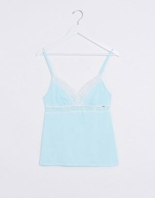 Dorina Ady organic cotton pyjama cami top in sage