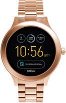 Fossil Q Women's Venture Gen 3 Rose Gold-Tone Stainless Steel Bracelet Touchscreen Smart Watch 42mm