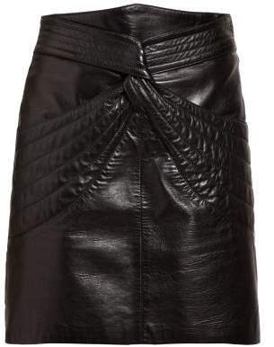 Isabel Marant Chaz Quilted Leather Mini Skirt - Womens - Black