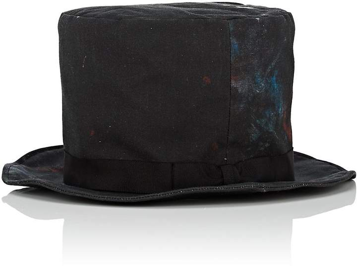 Yohji Yamamoto Men's Painterly Bowler Hat