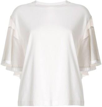 Muller of Yoshio Kubo short sleeve fringe details T-shirt