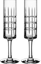 Orrefors 'street' Crystal Champagne Flutes