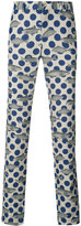 Comme des Garcons polka dot fish print trousers - men - Linen/Flax - L