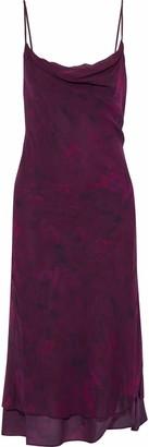 Haute Hippie Draped Printed Stretch-silk Dress