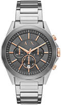 Armani Exchange Men's Chronograph Stainless Steel Bracelet Watch 44mm AX2606