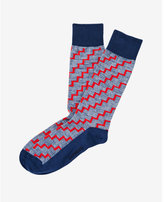 Express staircase print dress socks