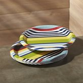 "Crate & Barrel Striped 10"" Paper Dinner Plates, Set of 12"