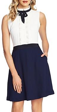 CeCe Tie-Neck Combo Dress