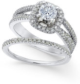 Macy's Diamond Bridal Set (1-1/8 ct. t.w.) in 14k White Gold