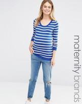 Mama Licious Mama.licious Mamalicious Stripe Knitted Sweater