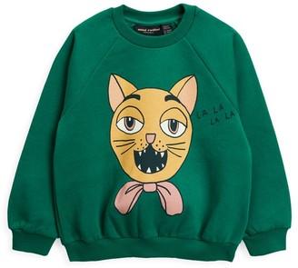 Mini Rodini Little Girl's & Girl's Cat Choir Sweatshirt