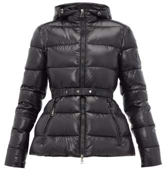 Moncler Rhin Hooded Quilted-down Jacket - Womens - Black