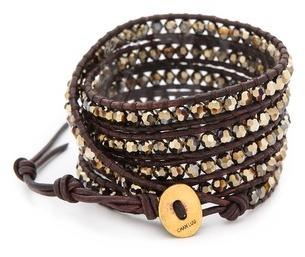 Chan Luu Round Beaded Wrap Bracelet