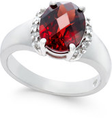Macy's Rhodolite Garnet (3-1/5 ct. t.w.) and Diamond (1/6 ct. t.w.) Ring in Sterling Silver